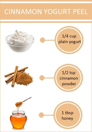 cinnamon yogurt peel